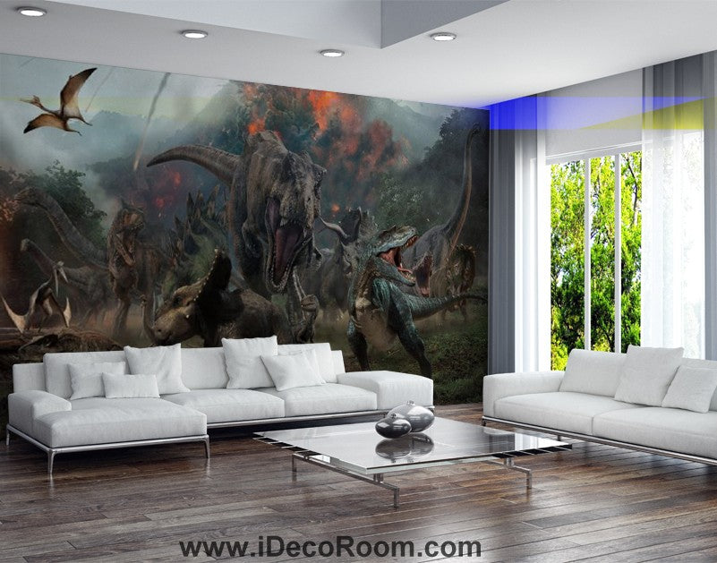 Dinosaur Wallpaper Large Wall Murals for Bedroom Wall Art IDCWP-KL-000163