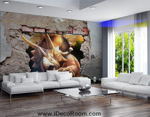 Image of Dinosaur Wallpaper Large Wall Murals for Bedroom Wall Art IDCWP-KL-000164