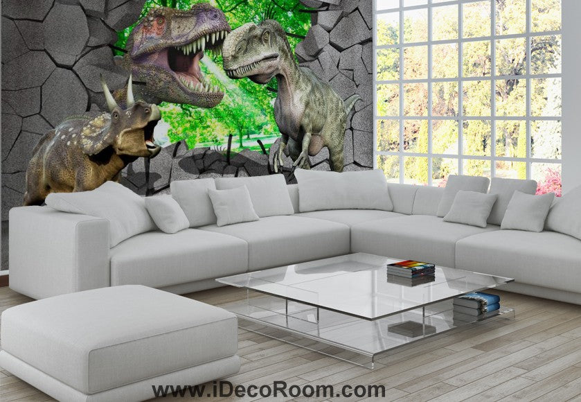 Dinosaur Wallpaper Large Wall Murals for Bedroom Wall Art IDCWP-KL-000168