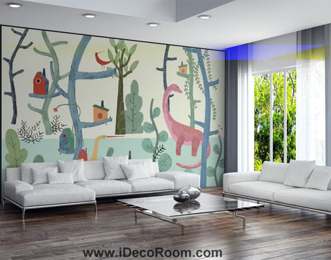 Image of Dinosaur Wallpaper Large Wall Murals for Bedroom Wall Art IDCWP-KL-000169