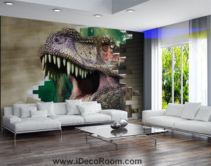 Dinosaur Wallpaper Large Wall Murals for Bedroom Wall Art IDCWP-KL-000170