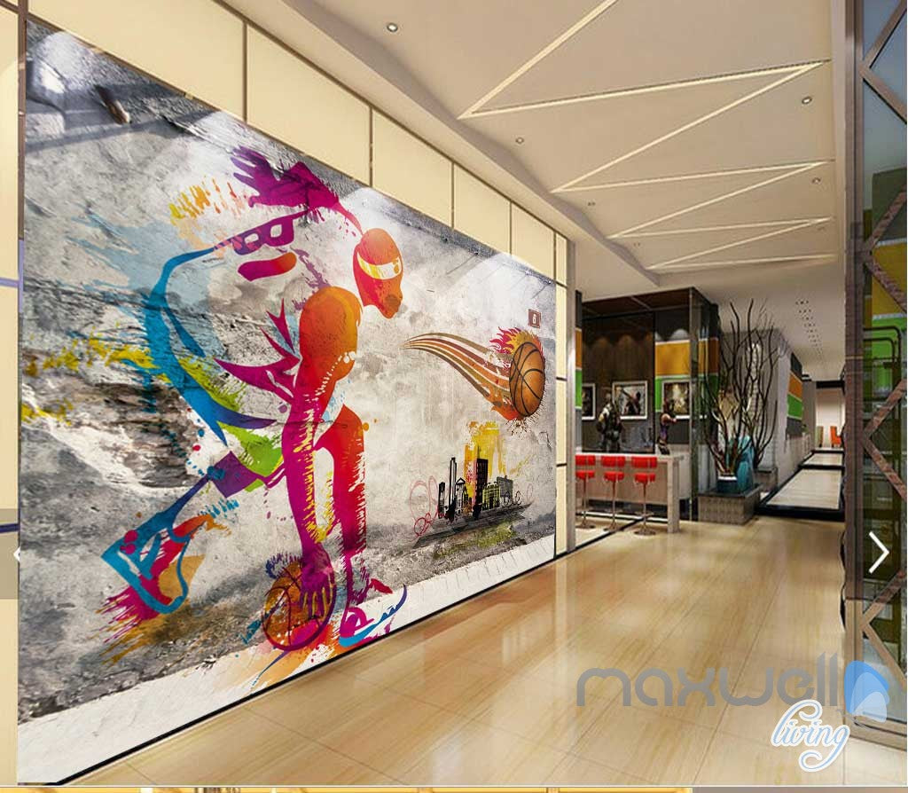 3d basketball illustrated sports art wall paper mural decals print 3d basketball illustrated sports art wall paper mural decals print decor idcwp mx 000088 amipublicfo Choice Image