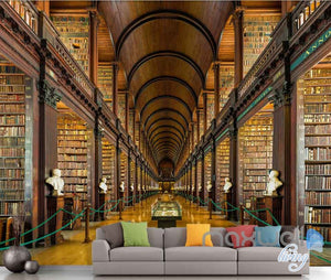 3D Huge Book Display Shelf Library Wall Paper Mural Art Print Decals Decor IDCWP-SJ-000007