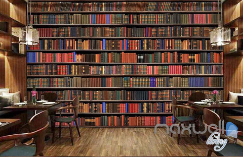 3D Large Realistic Books Wall Paper Mural Art Print Decals Business Decor  IDCWP SJ  Part 57