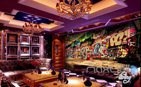Image of 3D Graffiti Street Wall Paper Murals Art Print Wall Decals Decor IDCWP-TY-000003