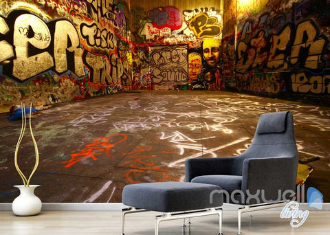 Image of 3D Graffiti World Wall Murals Paper Art Print Decals Decor Living Room IDCWP-TY-000009