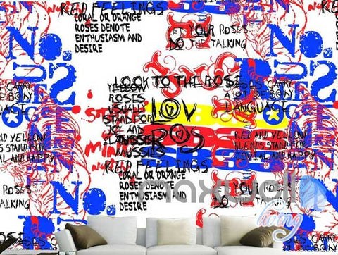 Image of 3D Graffiti Code Wall Mural Paper Art Print Decals Decor Living Room IDCWP-TY-000020