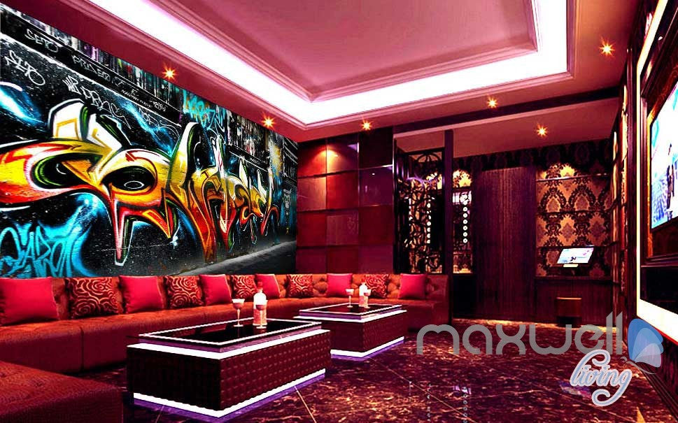 3D Graffiti Monkey King Wall Murals Paper Art Print Decals Decor Wallpaper IDCWP-TY-000028