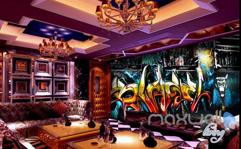 Image of 3D Graffiti Monkey King Wall Murals Paper Art Print Decals Decor Wallpaper IDCWP-TY-000028