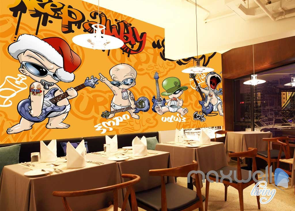 Cartoon Punk Baby Wall Murals Paper Art Print Decals Decor Wallpaper  IDCWP-TY-000030