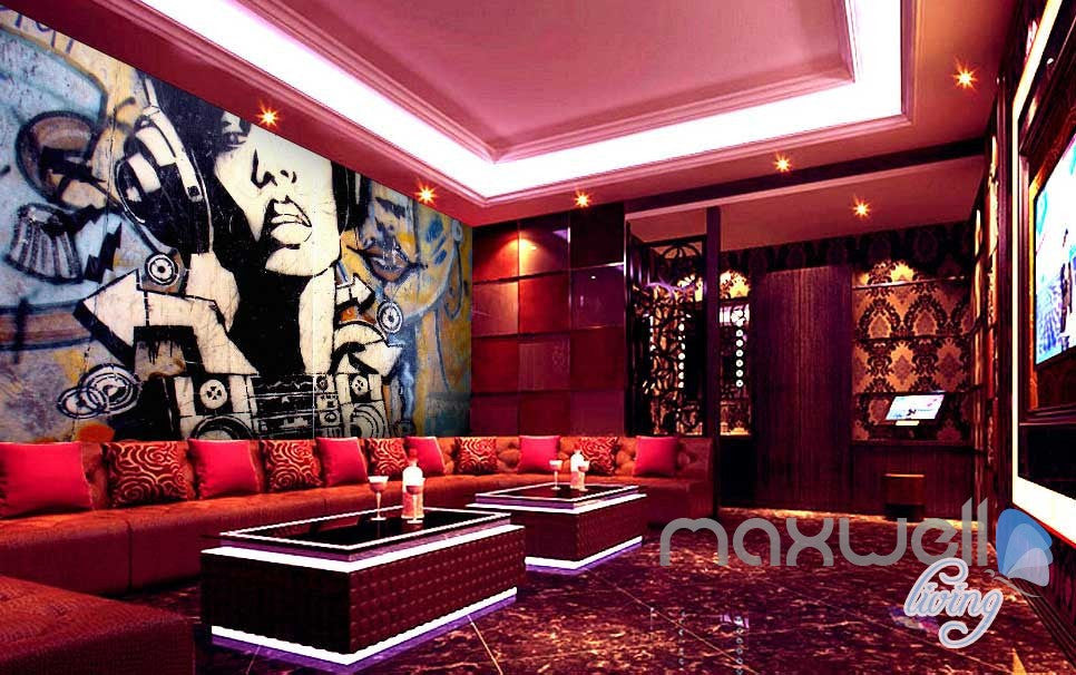 Retro Art Graffiti DJ Wall Murals Paper Art Print Decals Decor Wallpaper IDCWP-TY-000031