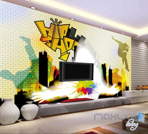 Image of 3D Graffiti Art City Wall Murals Paper Print Decals Decor Wallpaper IDCWP-TY-000037