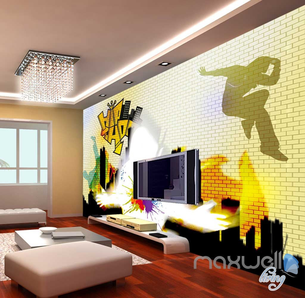 3D Graffiti Art City Wall Murals Paper Print Decals Decor Wallpaper IDCWP-TY-000037