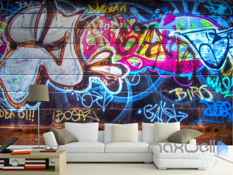 Image of 3D Graffiti Chalk Art Wall Paper Murals Print Decals Decor Wallpaper IDCWP-TY-000054