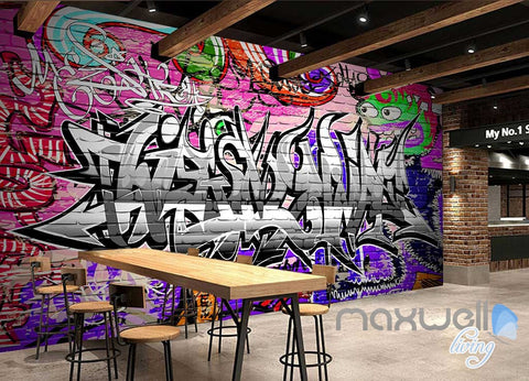 Image of 3D Graffiti Monster Wall Murals Paper Art Print Decals Decor Wallpaper IDCWP-TY-000077