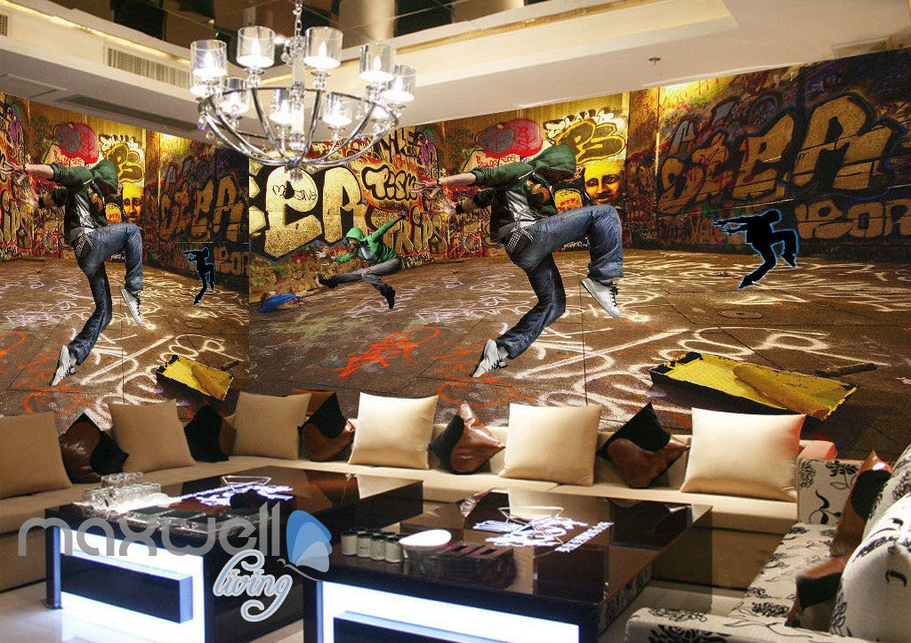 3D Graffiti Street Dancer Wall Murals Wallpaper Wall Art Decals Decor IDCWP-TY-000083