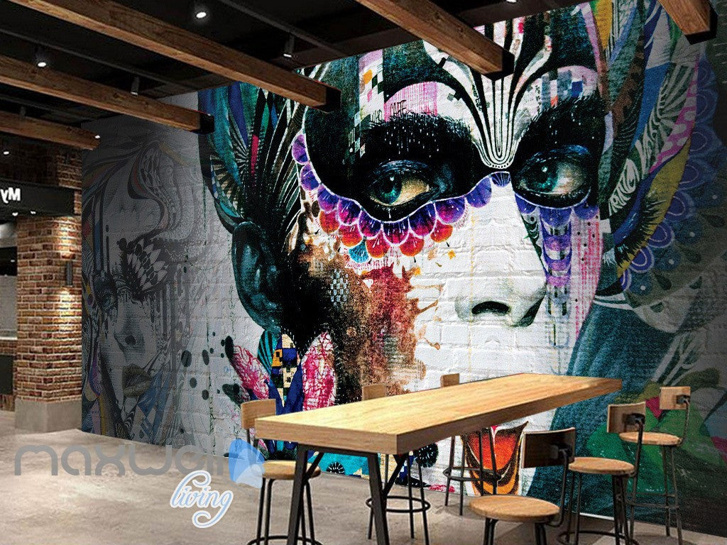 3D Graffiti Party Queen Colorful Art Wall Murals Wallpaper Wall Art Decals Decor IDCWP-TY-000103