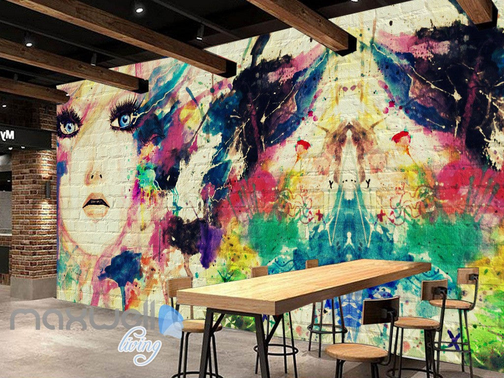 3D Graffiti Abstract Colorful Hope Wall Murals Wallpaper Wall Art Decals Decor IDCWP-TY-000104