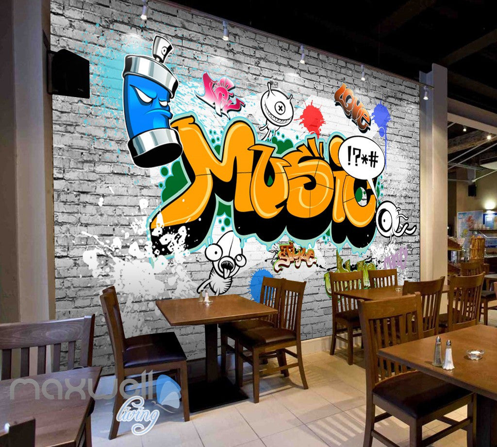 3d graffiti music word bricks wall murals wallpaper wall art 3d graffiti music word bricks wall murals wallpaper wall art decals decor idcwp ty