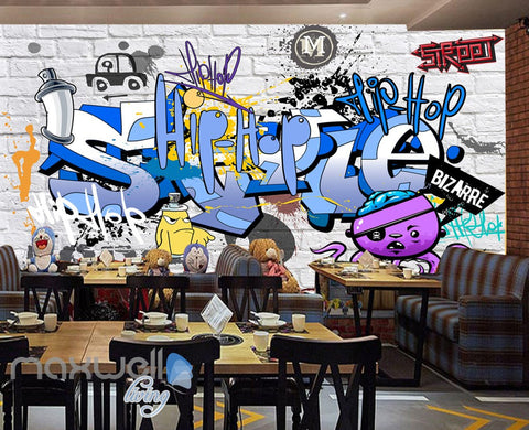 3D Graffiti Bizarre Letters Wall Murals Wallpaper Wall Art Decals Decor IDCWP-TY-000132