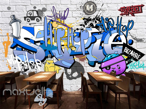 Image of 3D Graffiti Bizarre Letters Wall Murals Wallpaper Wall Art Decals Decor IDCWP-TY-000132