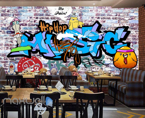 Image of custom size 243X316cm 3D Graffiti Letters Bricks Wall Murals Wallpaper Wall Art Decals Decor IDCWP-TY-000133
