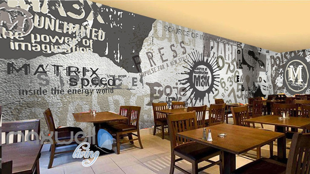 3D Retro Vintage Graffiti Wall Murals Wallpaper Wall Art Decals Decor IDCWP-TY-000134