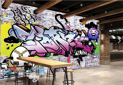 Image of 3D Graffiti Bizarre Star Letters Wall Murals Wallpaper Wall Art Decals Decor IDCWP-TY-000137