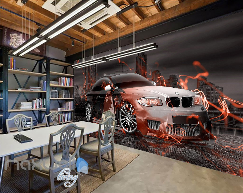 3D Graffiti Racing Car Fire Wall Murals Wallpaper Wall Art Decals Decor IDCWP-TY-000144