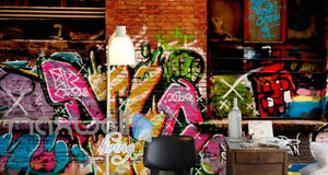 3D Graffiti Big Eye Theme Letter Words Wall Murals Wallpaper Decals Prints Decor IDCWP-TY-000170