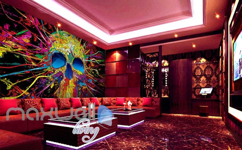 3D Graffiti Skull tube Abstract Art Wall Murals Wallpaper Decals Prints Decor  IDCWP-TY-000172