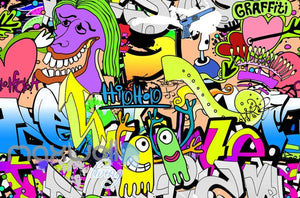 3D Graffiti Hiphop Abstract Street Art Wall Murals Wallpaper Decals Prints Decor IDCWP-TY-000173