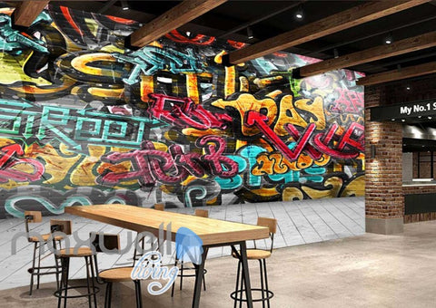 Image of 3D Graffiti Day RnB Color Letters Art Wall Murals Wallpaper Decals Prints Decor IDCWP-TY-000175