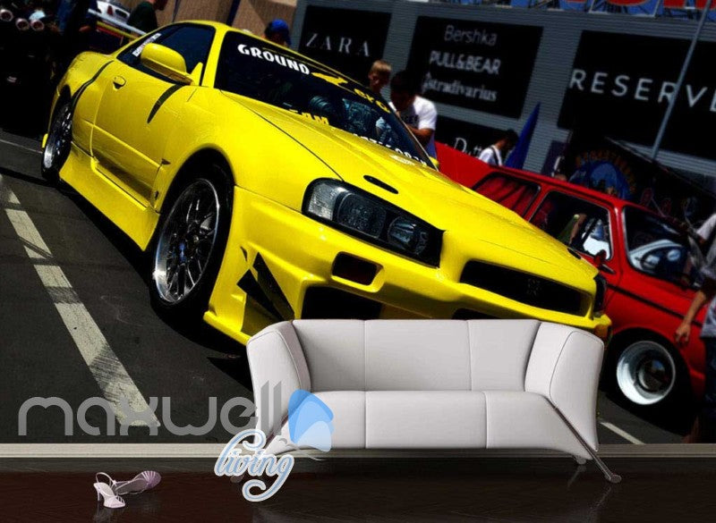 3D Graffiti Yellow Luxury Modified Art Wall Murals Wallpaper Decal Print Decor IDCWP-TY-000179