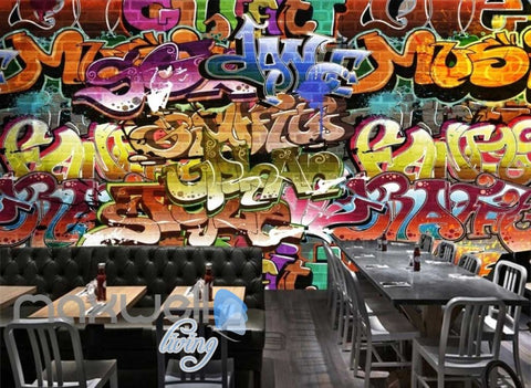 3D Graffiti Abstract Music Dance Art Wall Murals Wallpaper Decals Prints Decor IDCWP-TY-000189