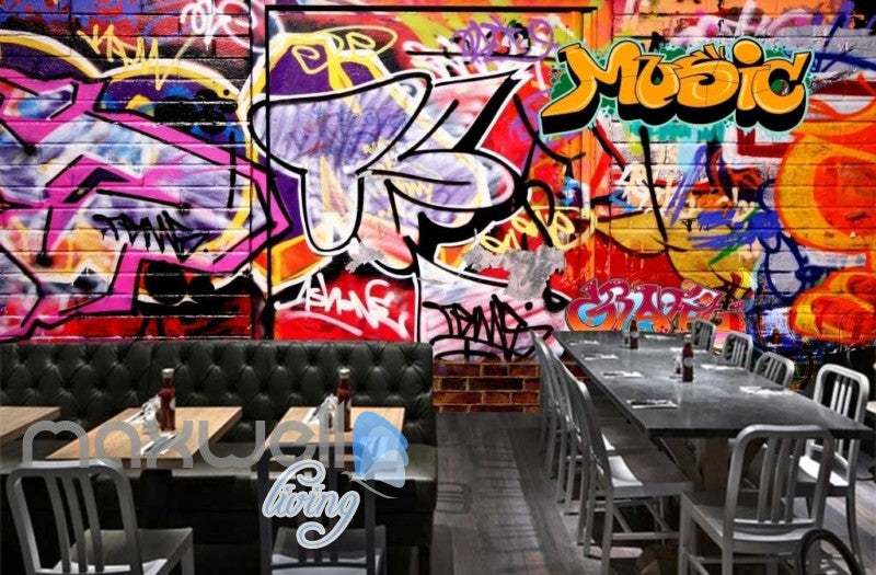 3d Graffiti Music Colorful Street Art Wall Murals Wallpaper Decals Prints Decor Idcwp Ty 000190