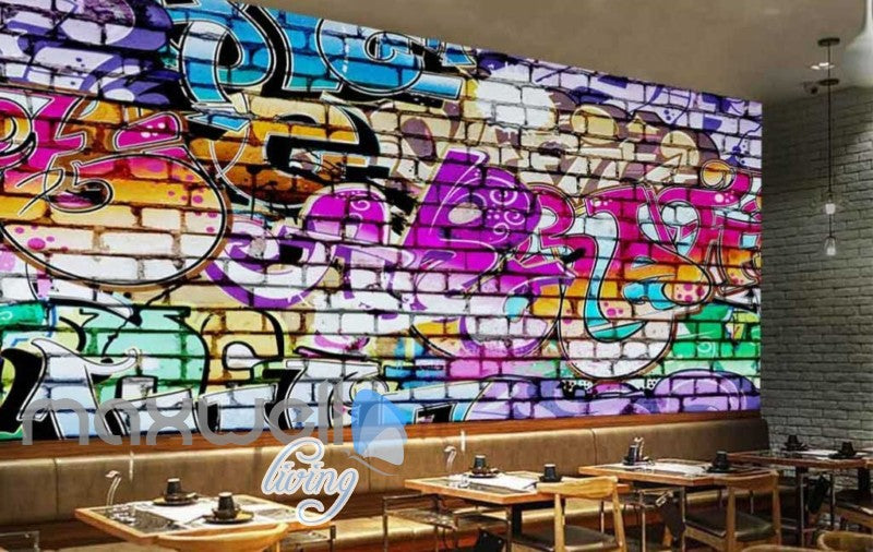 3D Graffiti Brick Color Words Street Art Wall Murals Wallpaper Decals Print  IDCWP-TY-000198