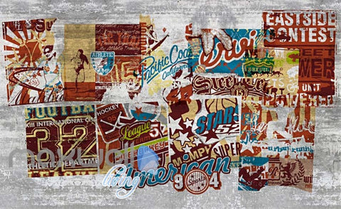 Image of 3D Graffiti Vintage Poster American Street Art Wall Murals Wallpaper Decal Print IDCWP-TY-000207