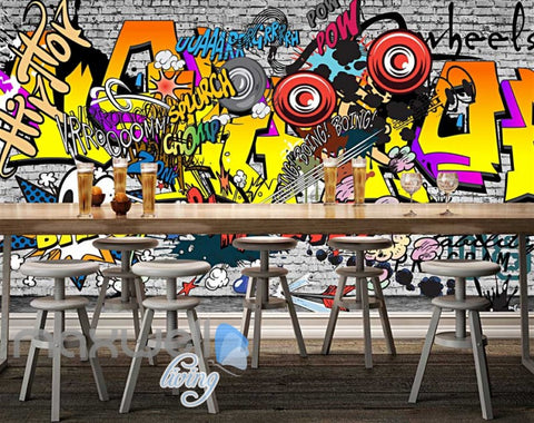 Image of 3D Graffiti Boing Bang Hiphop Color Art Wall Murals Wallpaper Decals Print Decor IDCWP-TY-000213