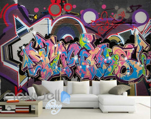3D Graffiti Abstract World Letters Street Art Wall Murals Wallpaper Decals Print IDCWP-TY-000217