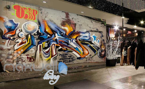 Image of 3D Graffiti Abstract Ball Boom Street Art Wall Murals Wallpaper Decals Prints IDCWP-TY-000218