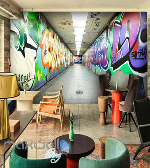 3D Graffiti Underground Letters Art Wall Murals Wallpaper Decals Prints Decor IDCWP-TY-000233