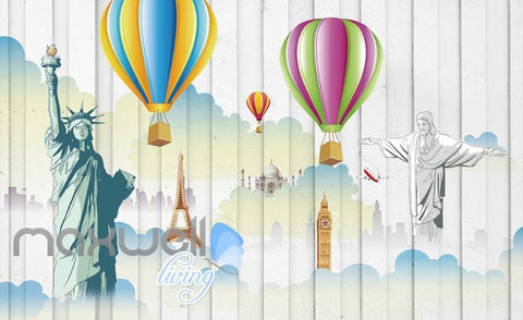 Image of 3D Graffiti Colorboard Airballoon Art Wall Murals Wallpaper Decals Prints Decor IDCWP-TY-000239