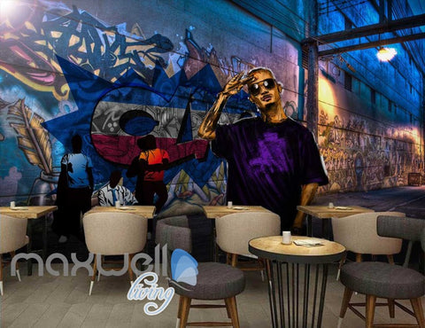 Image of 3D Graffiti Feather Paint Back Street Art Wall Murals Wallpaper Decals Prints  IDCWP-TY-000246