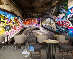 3D Graffiti Abstract Letters Interior Art Wall Murals Wallpaper Decals Prints IDCWP-TY-000247
