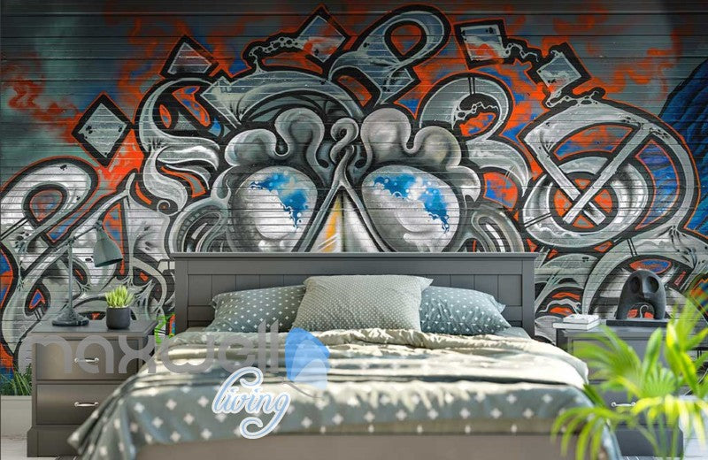 3D Graffiti Monster Abstract Street Art Wall Murals Wallpaper Decals Print Decor IDCWP-TY-000255