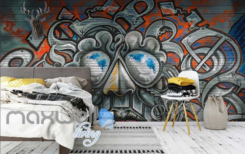 Image of 3D Graffiti Monster Abstract Street Art Wall Murals Wallpaper Decals Print Decor IDCWP-TY-000255