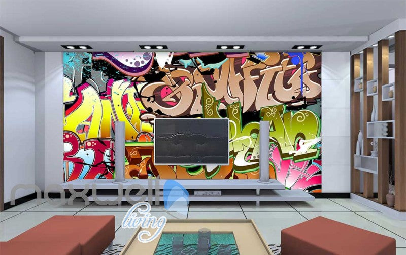 3D Graffiti Abstract Letters 284 Street Wall Murals Wallpaper Decals Print Decor IDCWP TY