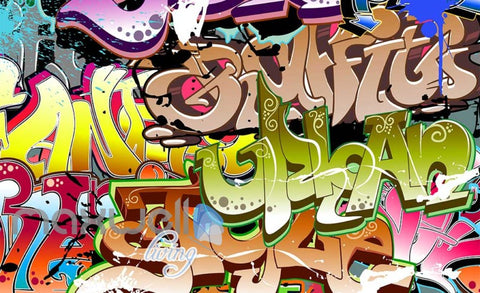 Image of 3D Graffiti Abstract Letters 284 Street Wall Murals Wallpaper Decals Print Decor IDCWP-TY-000284