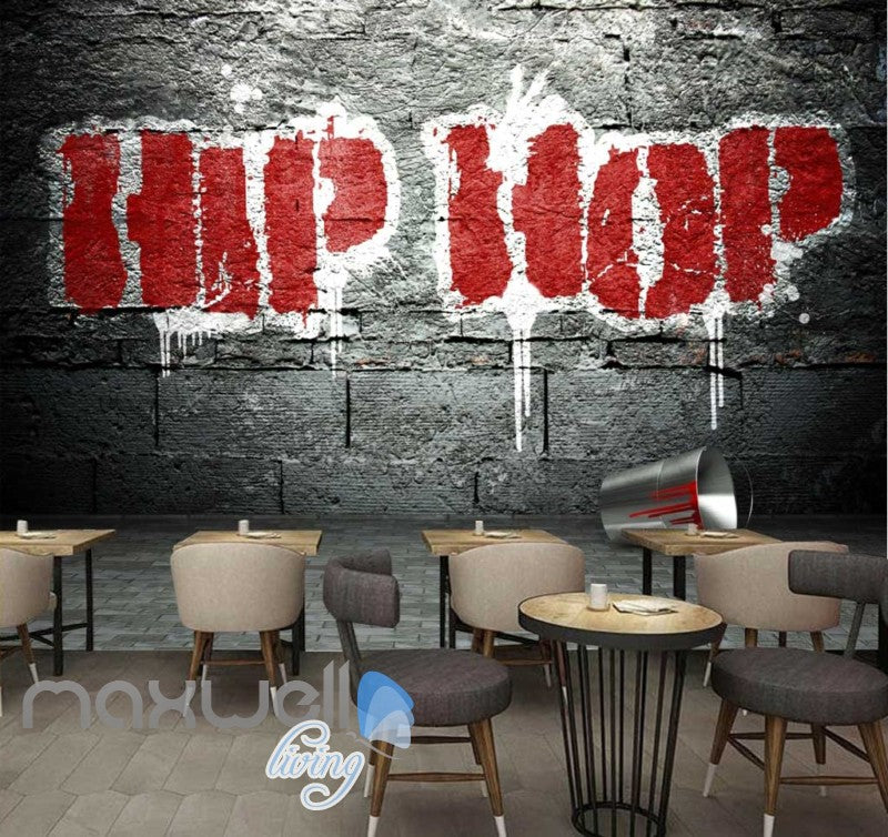 3D Graffiti Large Red Hiphop Street Art Wall Murals Wallpaper Decals Print Decor IDCWP-TY-000290